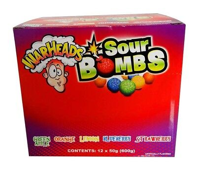 Warhead Extreme Sour Bombs (12 x 50g Tubes in a display)