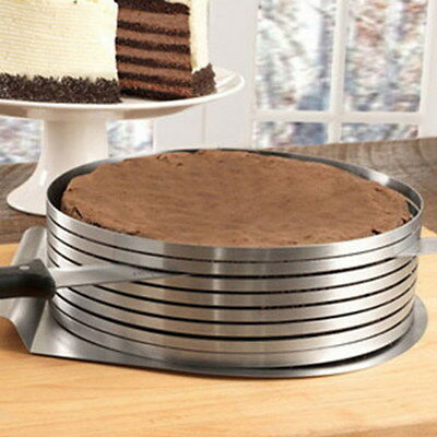 Adjustable 6 Layer Cake Slicer Cutting Guide 15 to 20 cm Mould Tool Cooking