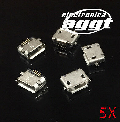 5X Conector Micro Usb Microusb Movil Tablet Carga Female Charge Connector Socket