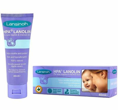 Lansinoh HPA Lanolin Cream for Sore Nipples & Cracked Skin (40ml)