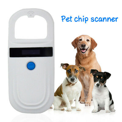 Pet Microchip Scanner Animal RFID Tag Reader 134.2KHZ Accessory For Dog Pig Ear