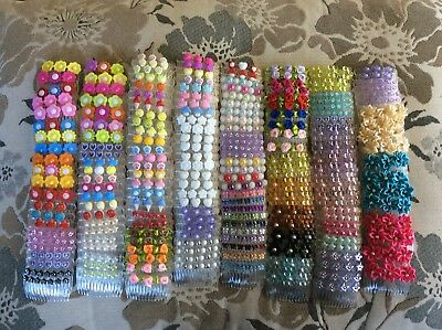 Job Lot 10 girls hair accessories All Hand Made