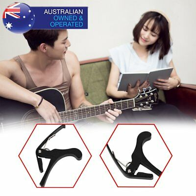 AU! Quick Change Grain Clamp Key Capo Wood For Acoustic Electric Guitar BaMG