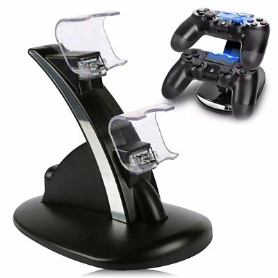 For PS4 Dual Remote Controller LED Charger Dock Station USB Fast Charging Stand