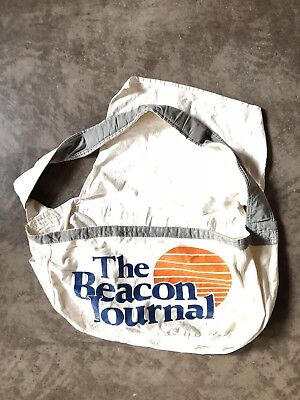 VINTAGE NEWSPAPER Akron Beacon Journal Ohio PAPER BOY CANVAS DELIVERY BAG
