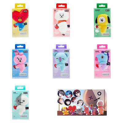 Official BT21 Character Plush Doll Magnet KPOP Bangtan Boys BTS Goods