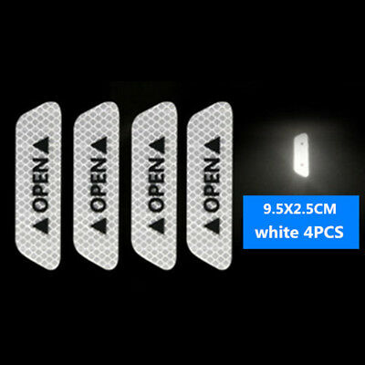 4x Universal Super Car Door Open Sticker Reflective Tape Safety Warning Decal