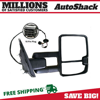 New Right Power Heated Towing Smoked Side Mirror with Signal fits Chevrolet GMC