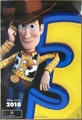 TOY STORY 3 MOVIE POSTER 2 Sided ORIGINAL INTL WOODY 26.5x38.5 TOM HANKS