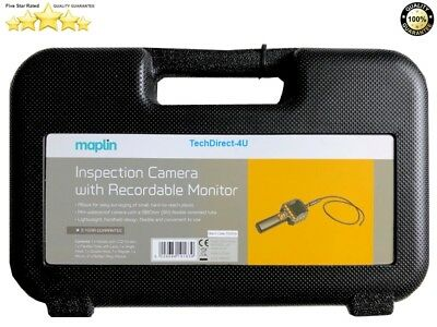Maplin Borescope Waterproof Inspection Camera with Recordable Monitor RRP £100