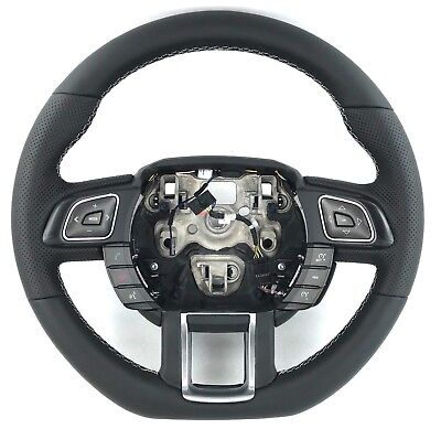 Genuine Land Rover Evoque steering wheel. New leather, flat bottom, thicker.  3B