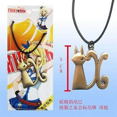 Fairy Tail Necklace Natsu Dragonil Pendant Necklace Key Manga Lucy Cosplay #3