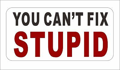 You Cant Fix Stupid Car Door Bumper Window Sticker Decal Hard Hat Decor Hot Sale