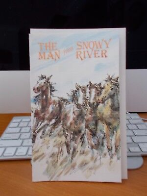HORSE - GREETING CARD - MAN FROM SNOWY RIVER - Unused