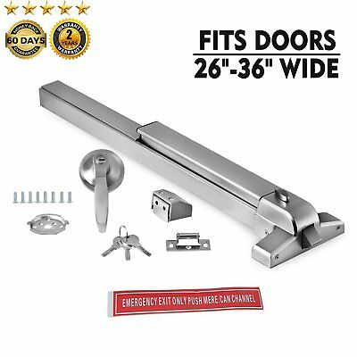 69cm Door Push Bar Panic Exit Device Lock With Handle Emergency Hardware Fast AS
