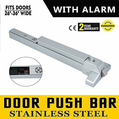 Door Push Bar 65cm Panic Exit Device with Alarm Commercial Emergency Exit Bar AS