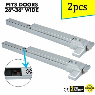 2x Durable Door Push Bar Panic Exit Device With Alarm Emergency Hardware Lock AS