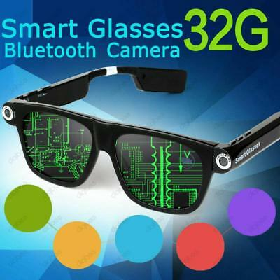 Smart Glasses Wireless Bluetooth Headset Sunglasses with Camera 5MP HD 720P 32GB