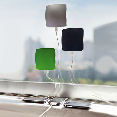 Portable Solar Window USB Plug Suction Panel Mobile Car Charger Square Powerbank