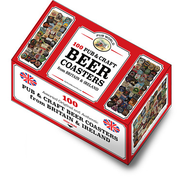 100 assorted Pub Craft Beer Coasters from Britain & Ireland