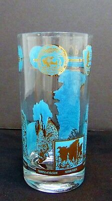 Vintage Carlsbad Cavern National Park New Mexico Water Juice Glass
