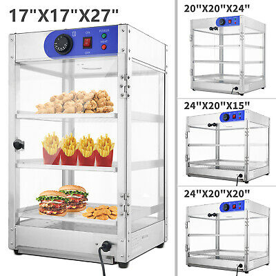 4 Size Commercial 2 / 3-Tier Counter top Food Pizza Warmer Display Cabinet Case