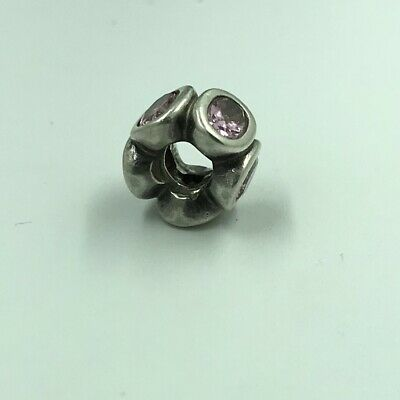 Authentic PANDORA 925 ALE Silver Pink Oval Lights Spacer Charm 790311PCZ RETIRED