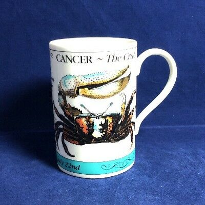 Dunoon Fine Stonware Zodiac Mug Cancer Used