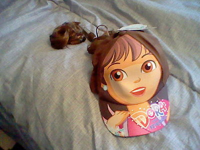 Brand New Dora And Friends Dora Baseball Cap With Faux Hair