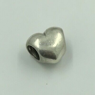 RETIRED Authentic PANDORA 925 ALE Sterling Silver !!! Simple Heart Spacer Charm