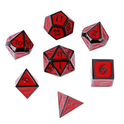 ANCIENT POLY 7 Dice RPG Set Gold Dungeons Dragons Pathfinder