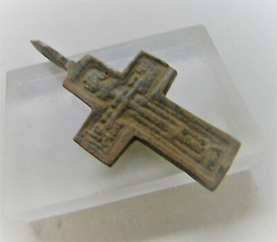Beautiful Medieval/post Medieval Intact & Wearable Religious Crucifix Pendant