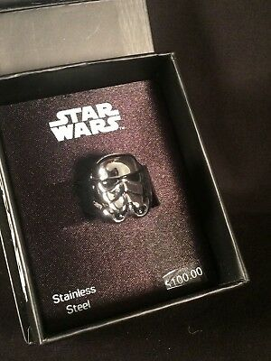 Star Wars Storm Trooper 3D Ring Size 10 SWST3DFR01-10 New With Box