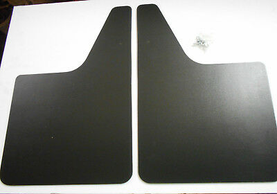 TRW Heavy Duty 12'' x 18'' Splash Guards Black - Made in USA - Front or Rear