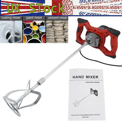 6-Speed Paddle Mixer Electric Plaster Mixing Paint Stirrer Plastering Whisk 220V