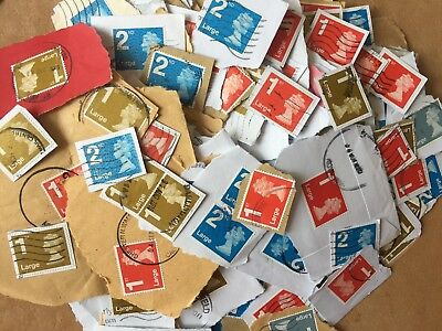500g 2500 1st & 2nd Class LARGE LETTER Security Stamps Franked NO UNFRANKED