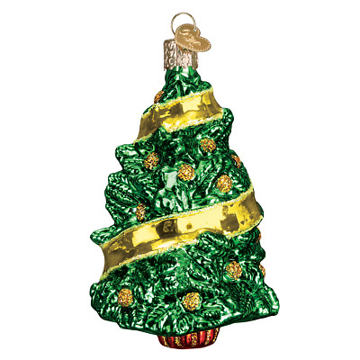 """Support Our Troops"" (Tree) (48038)X Old World Christmas Glass Ornament w/OWC Bx"