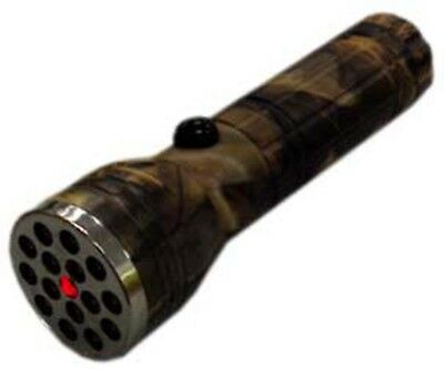 15 LED Flashlight with Red Pointer - Woodland Camouflage - 5 Inches Long  (FAROL