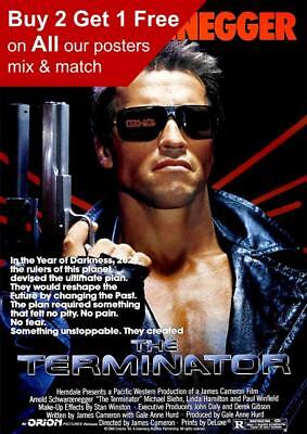 The Terminator 1984 Movie Poster A5 A4 A3 A2 A1