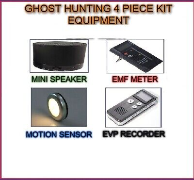 Ghost 4 Piece Hunt - Emf Evp Spirit Sensor Paranormal Hunting Equipment Kit