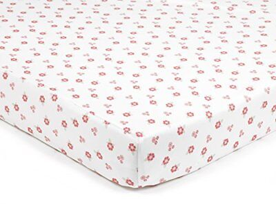 BreathableBaby Super Dry Cot Bed Sheets In English Garden Pack of 2