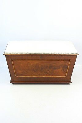 Antique Victorian Mahogany Ottoman - Blanket Box Foot Stool Coffee Table Coffer