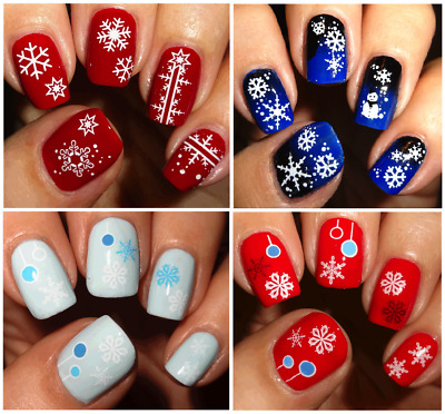 Adesivi Unghie-Nail Water Decals Sticker-CHRISTMAS-NATALE-Fiocchi NEVE-Buy3 Get4