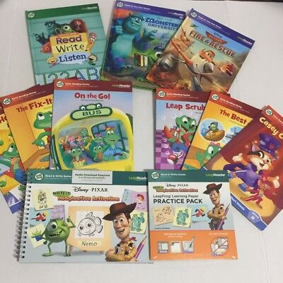 Lot of 9 Leap Frog Tag Reader Books Vowels Plus Extras