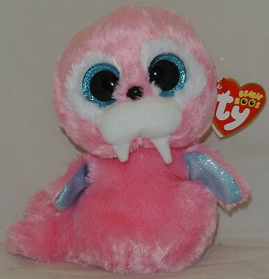 NEW! TY BEANIE Boos TUSK the Pink Walrus 6