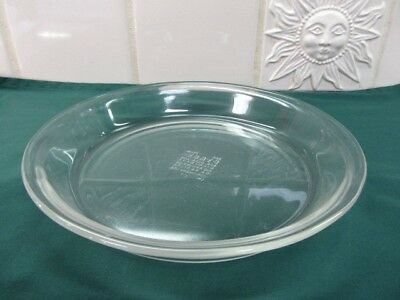 Pyrex  8 inch Pie Plate Glass Pan No. 208 USA Clear ovenware