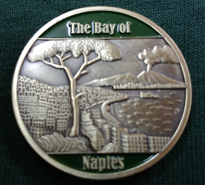 The Bay of Naples Italy Forrest Sherman High School Wildcats Challenge Coin NEW