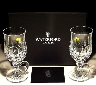 60c5cb02b5d 2 NEW WATERFORD Crystal Lismore Irish Coffee Mugs Glasses ~ In Original Box