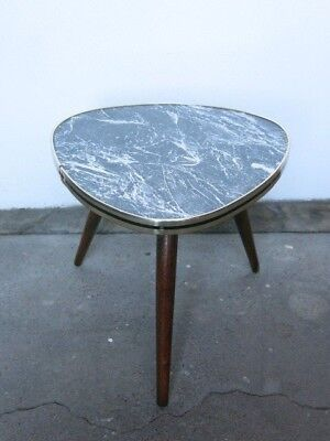 Vintage Mid Century Modernist Patterned German 20th Century Plant Table/Stand