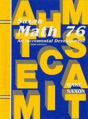 Saxon Math 7/6: Student Edition 2002